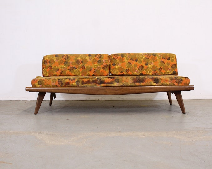 "Mid-Century Modern Walnut Daybed/Sofa 75"""
