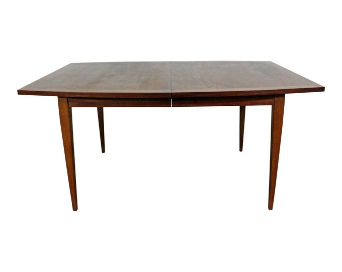 Mid-Century Modern Walnut Surfboard Dining Extension Table 98""
