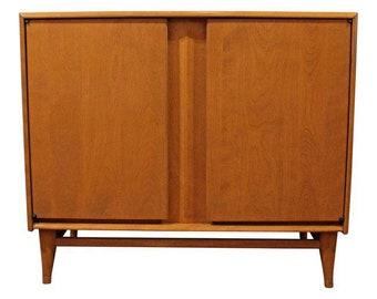 Mid-Century Modern Heywood Wakefield Harmonic Champagne Server/Cabinet M996
