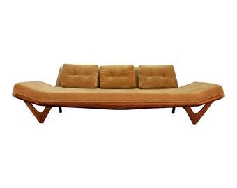 Adrian Pearsall Gondola Sofa on Boomerang Legs Model 2303 Mid Century Modern