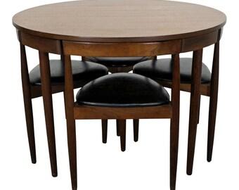 Mid-Century Danish Modern Hans Olsen Teak Roundette Dining Set
