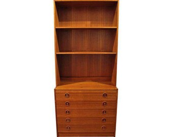 Mid-Century Danish Modern Teak Bookcase Dresser