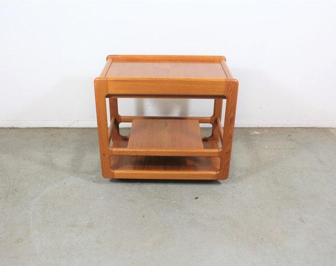 Danish Modern Teak Dry Bar/Tea Serving Cart on Wheels