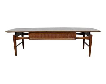 Lane 'Esteem' Coffee Table Mid-Century Modern Walnut Table