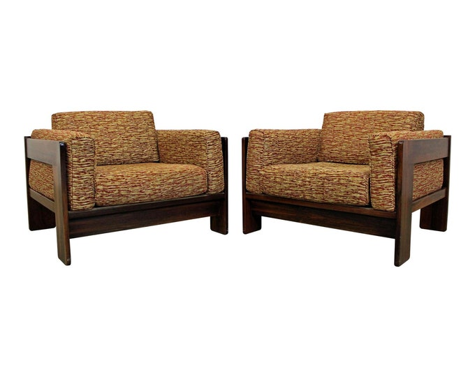 Knoll Lounge Chairs by Bastiano Tobia Scarpa  Rosewood Mid-Century Modern