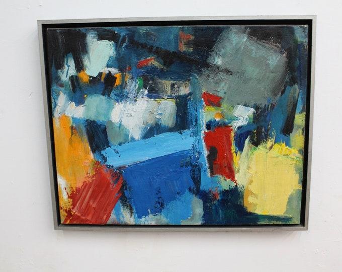 Mid Century Modern  Abstract Oil on Canvas