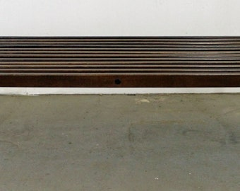 Mid-Century Slat Bench Coffee Table ,Walnut