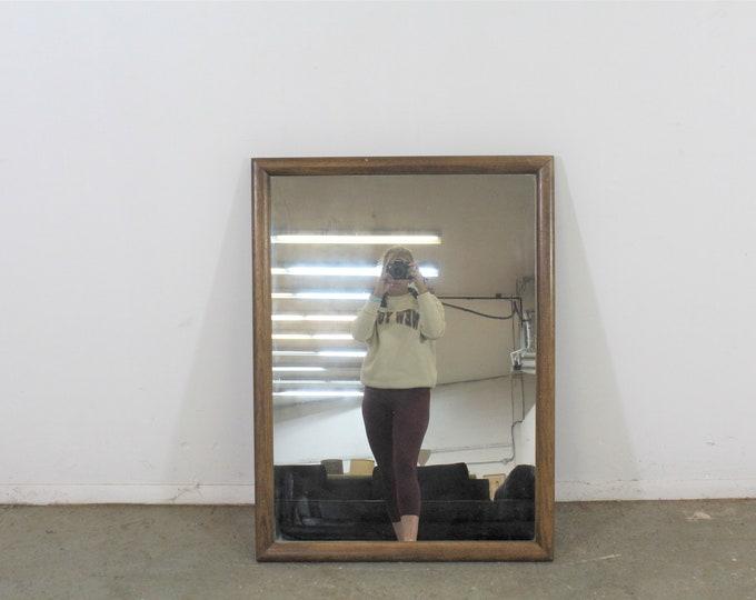 Mid-Century Modern Walnut Wall Mirror