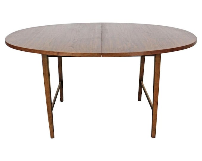 Mid-Century Modern Paul McCobb Style Round Extendable Dining Table Vintage