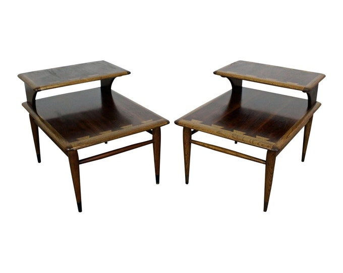 Mid-Century  End Tables by Andre Bus for Lane Acclaim 2-Tier
