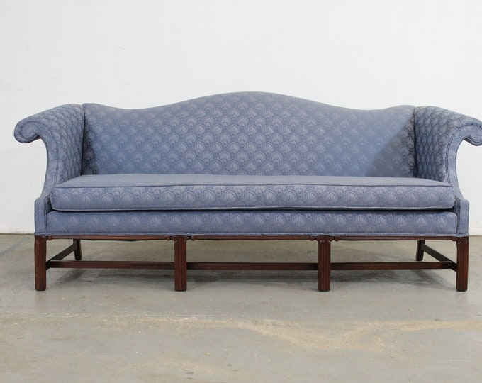 Mary Webb Wood Chippendale Reproduction Camelback Sofa by Woodmark Inc