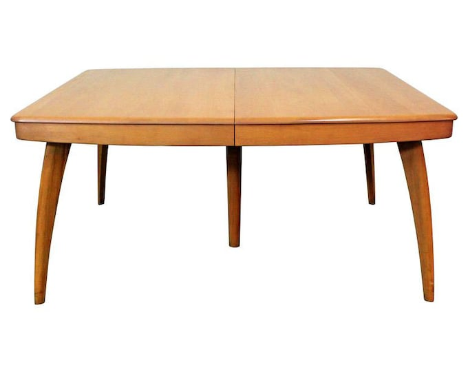 Heywood Wakefield Dining Table, Mid-Century Modern, Champagne Extension Dining Table
