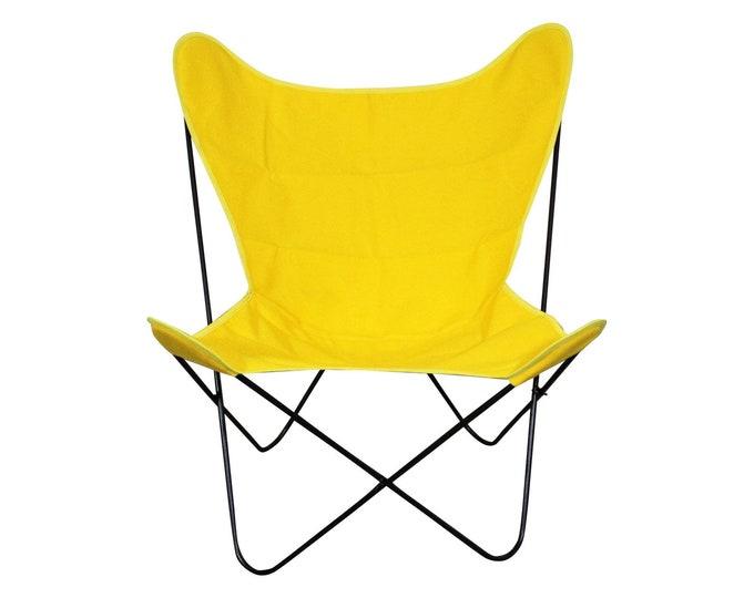 Mid-Century Modern Welded Iron Butterfly Chair Danish Modern Knoll Style