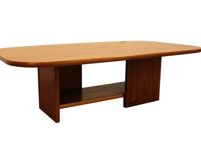 Mid-Century Coffee Table Danish Modern Teak 2-Tiered Table by Mobler