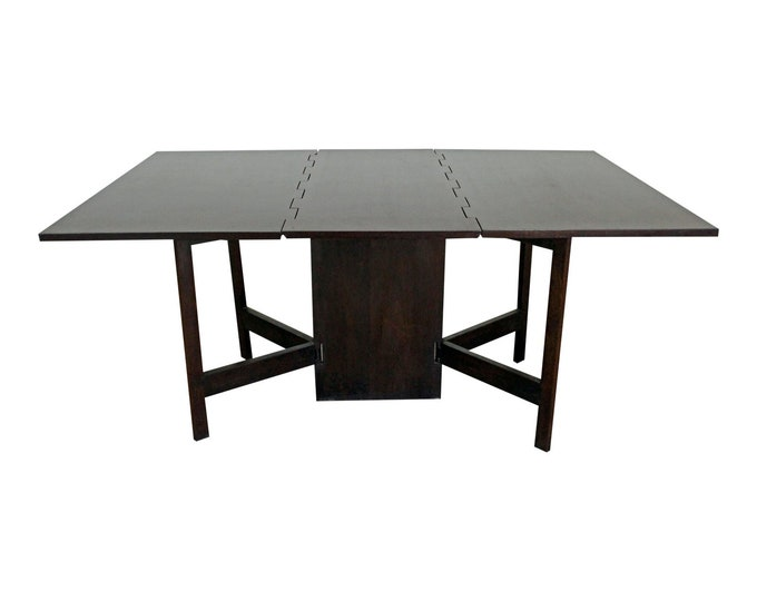 George Nelson Dining Table Mid-Century  Danish Modern by Herman Miller Drop-Leaf
