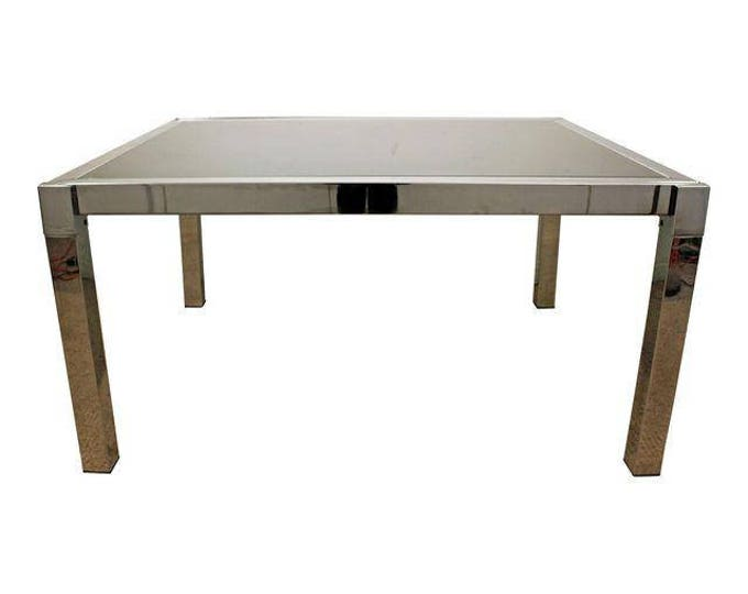Milo Baughman Dining Table DIA Chrome Extension