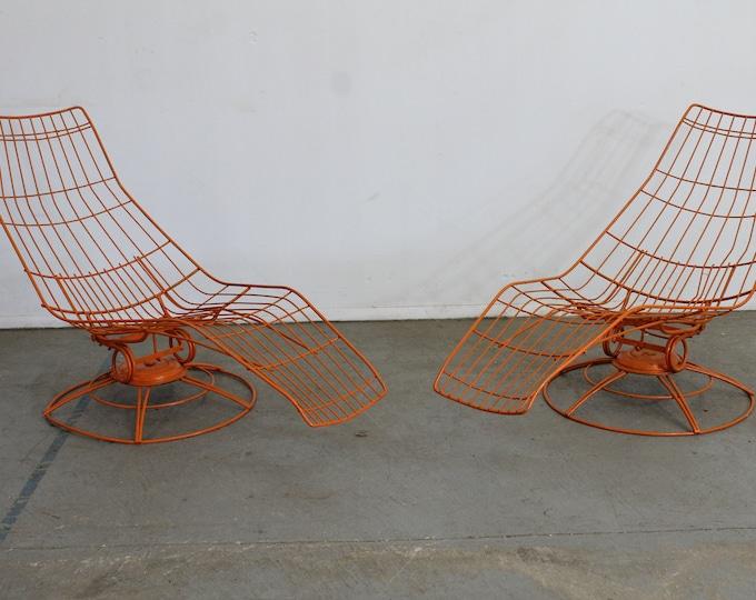 Pair-Mid-Century Modern Bottemiller  Siesta Chaise Lounge Chairs