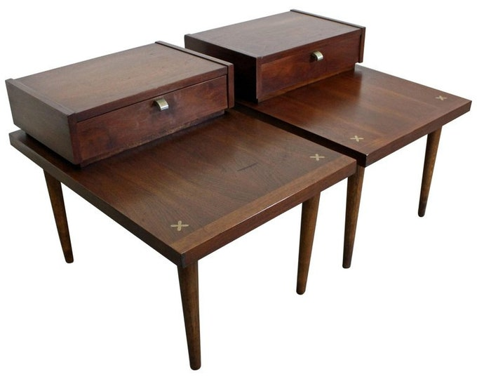 Pair of Mid-Century Modern Merton Gershun American of Martinsville End Tables
