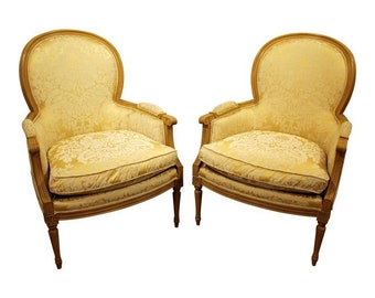 French Ladies Arm Chairs by Sherrill-Pair