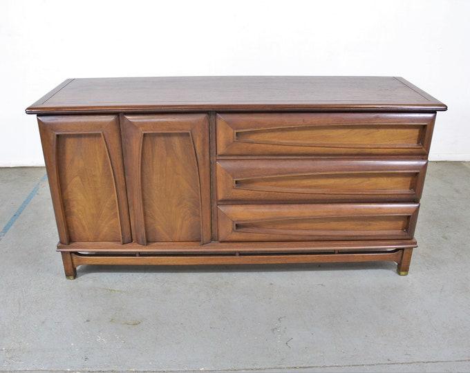 Mid-Century Modern Credenza, Kent Coffey The Grenada Walnut Credenza Dresser