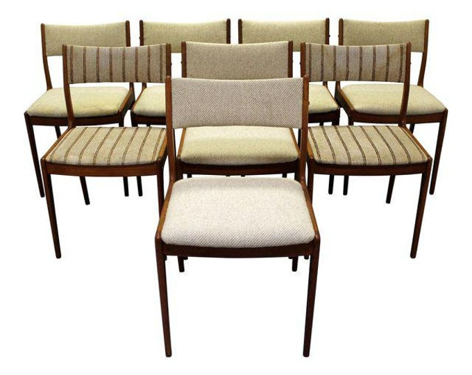 Set of 8 Mid-Century Danish Modern Johannes Andersen Uldum Teak Dining Chairs
