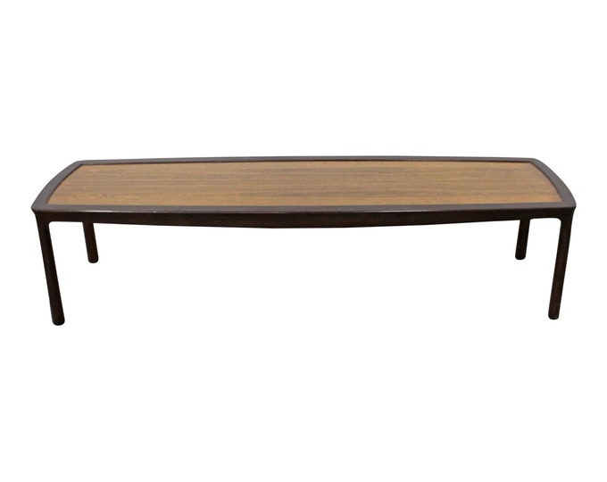 Mid-Century Modern Asian Edward Wormley Dunbar Long Rosewood Coffee Table