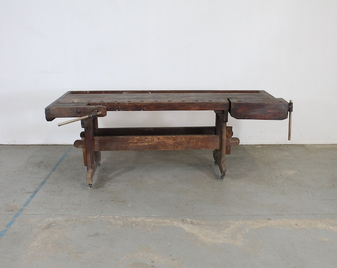 Antique Shaker Cabinet Makers Workbench