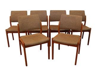Set Of 6 Mid Century Danish Modern Svegards Markaryd Teak Side/Dining Chairs