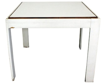 Mid-Century Danish Modern Knoll Style White Game Table