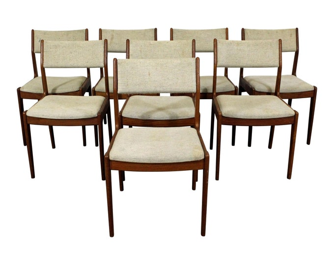 Mid-Century Dining Chairs, Modern, Danish Modern, Teak Side Chairs