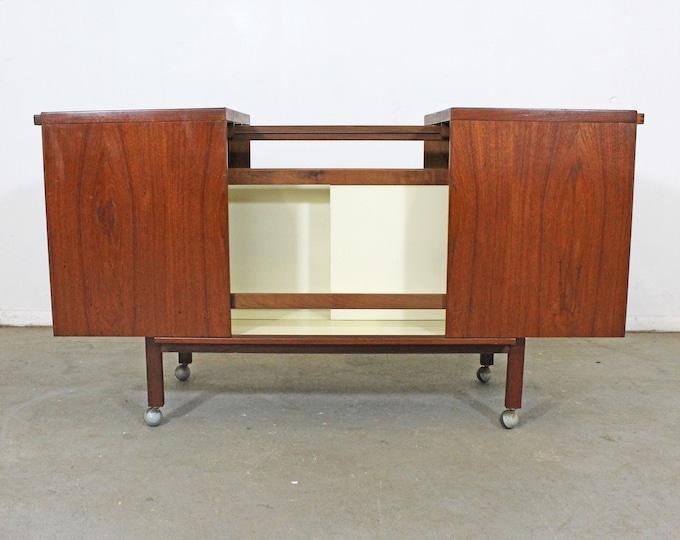 Vintage Danish Modern Bar Cart by Niels Erik Glasdem Jensen Illum Bolighus Teak Bar Cart, Mid-Century Modern Bar