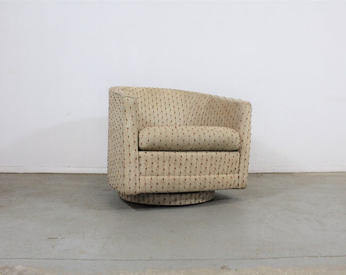 Mid-Century Modern Milo Baughman Style Precedent Swivel Club Chair
