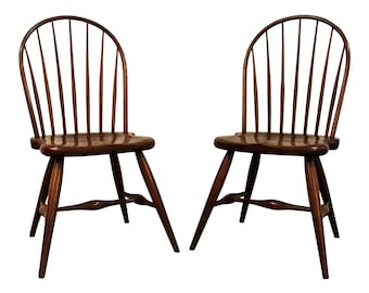 Traditional Dining Chairs Duckloe Bros Cherry Hoop Back Windsor Side Chairs