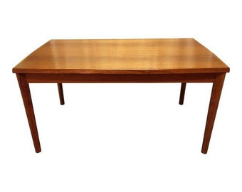 Mid-Century Dining Table Danish Modern BRDR Furbo Henning Kjaernulf Extension Dining Table