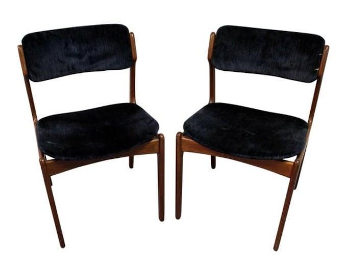 Erik Buch Dining Chairs Danish Modern for O.D. Mobler Teak