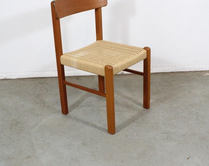 Mid Century Modern Teak Rope Woven Side/Desk Chair