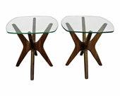 Adrian Pearsall 39 Jacks 39 Glass Top End Tables Mid-Century Danish Modern
