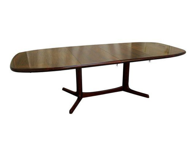 Danish Modern Dining Table Rosewood Extendable Surfboard