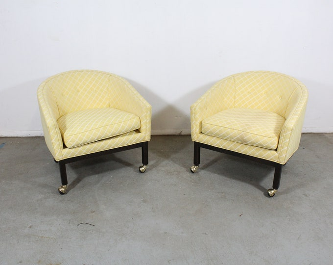 Pair of Mid-Century Modern Club Chairs by Kipp Stewart for Directional