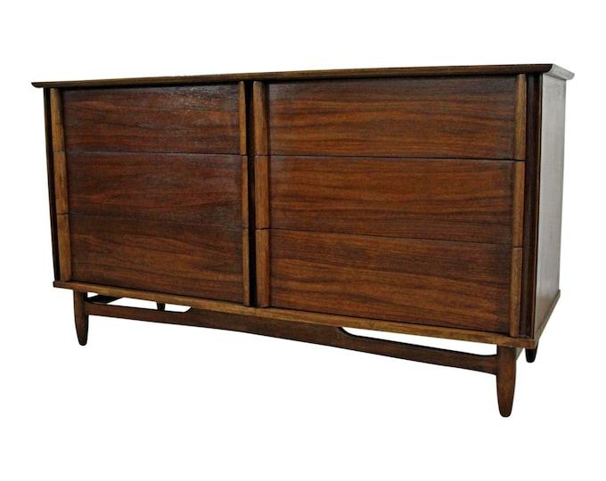 Mid-Century Modern Credenza 6-Drawer Dresser