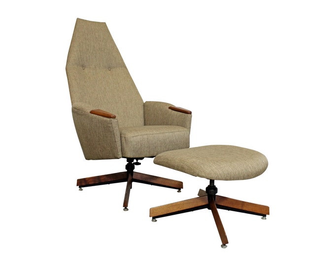 Mid-Century Modern Lounge Chair & Ottoman 2174C  by Adrian Pearsall