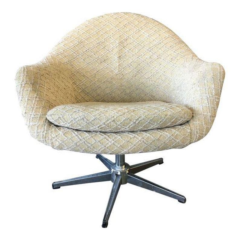 Gentil Danish Modern Overman Chrome Swivel Pod Chair #2