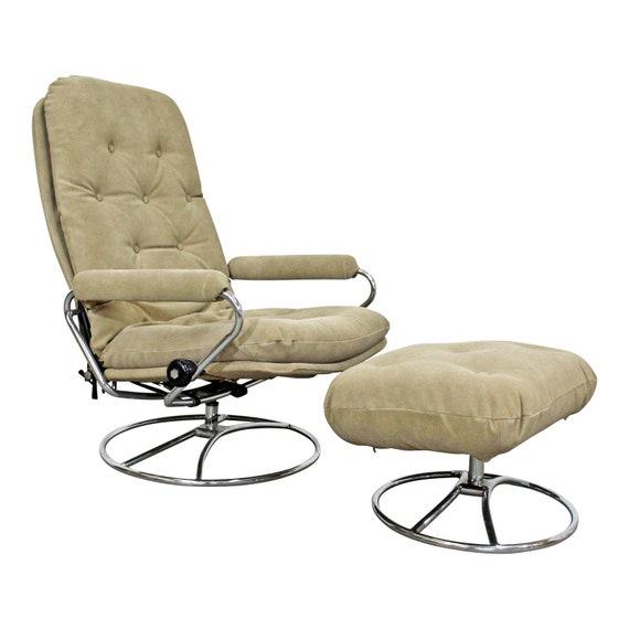 Ekornes Stressless Recliner Lounge Chair & Ottoman Mid Century Modern, Swedish