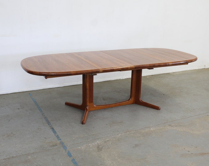 Mid-Century Danish Modern Teak Extendable Surfboard Dining Table