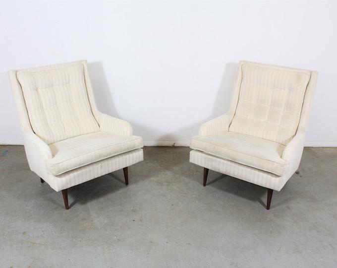 Pair of Mid-Century Danish Modern Paul McCobb Style Lounge Chairs