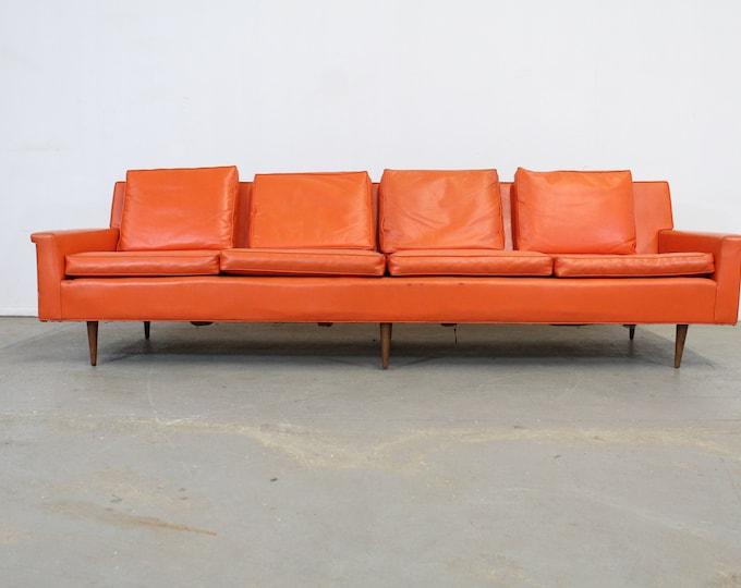 Mid-Century Elongated Orange Sofa by Milo Baughman  for Thayer Coggin