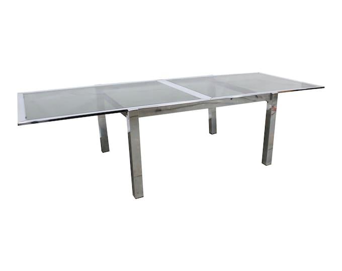 Milo Baughman  Chrome Extension Dining Table