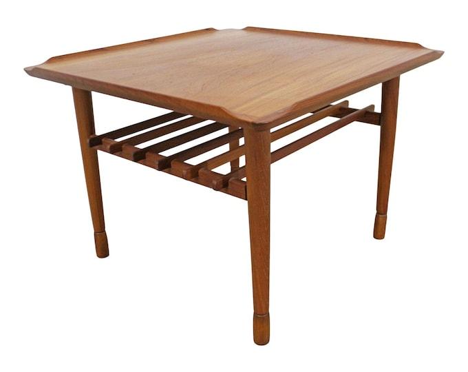 Vintage Mid-Century Modern, Danish Modern, Poul Jensen Selig Style Square End/Side Table