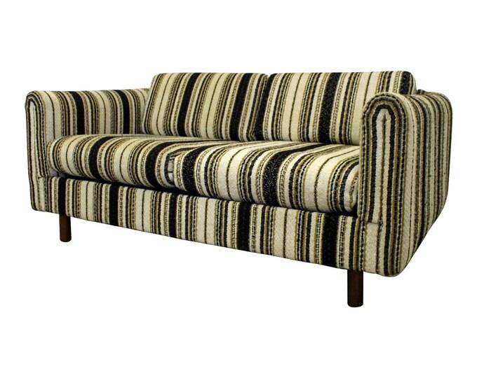 Mid-Century Modern Danish Selig of Monroe Loveseat Sofa