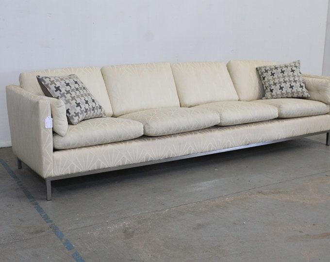 Mid-Century Modern Knoll Elongated 4 Seat Chrome Frame Sofa